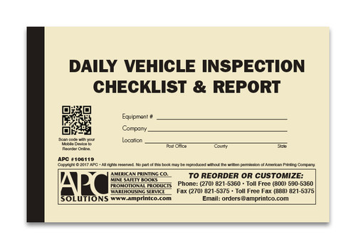 APC 6-1494: Report of Daily Inspection of Hoisting Equipment - APC