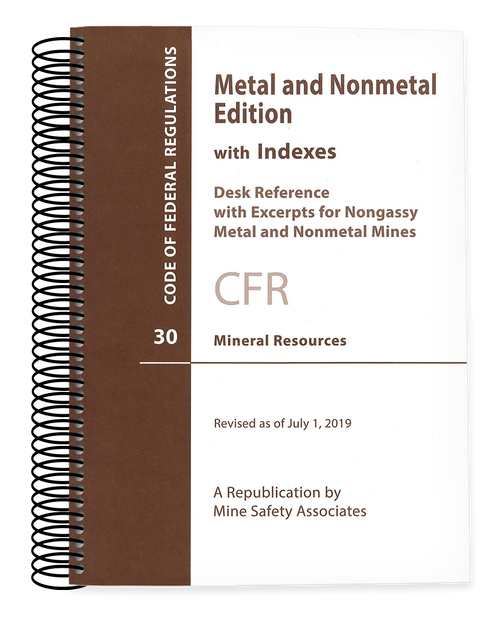 Metal and Nonmetal 30 CFR Code of Federal Regulations