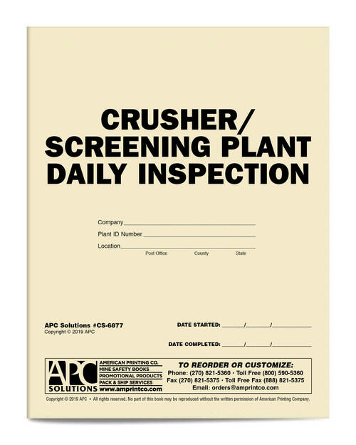 Crusher Screening Plant Daily Inspection