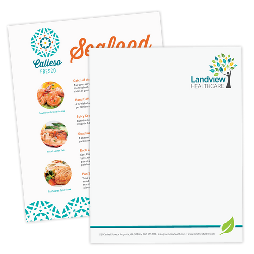 Full Color Digital Letterhead — Laser & Inkjet Compatible