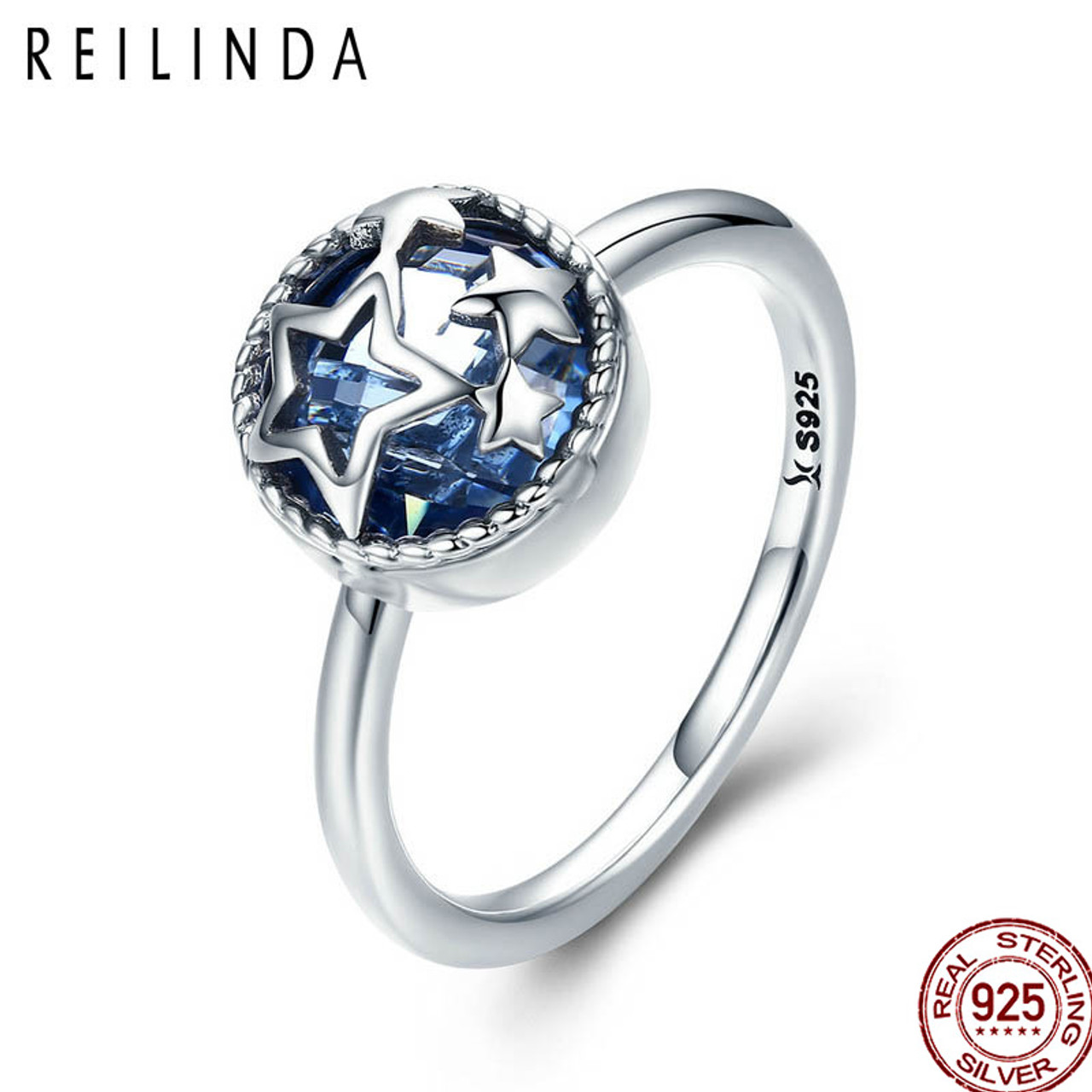 Shape Engagement Charm Women Jewelry Crystal Rhinestone Wedding Gemstone Ring