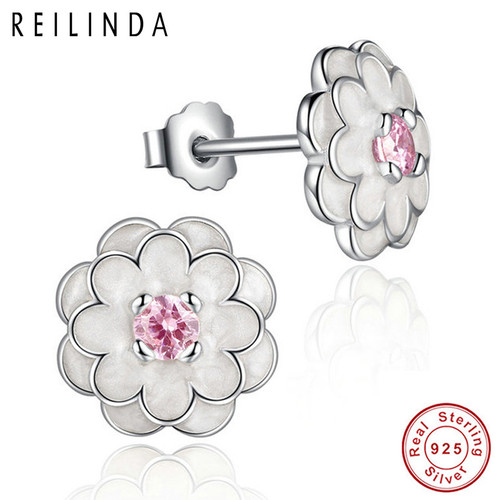 8a9dbb50d0 Sterling silver crystal white stone Cactus earring Cubic Zirconia ...