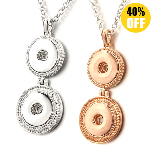 Tow Snap Button Pendants Jewelry Popular Snap Charm Pendant LSNP156
