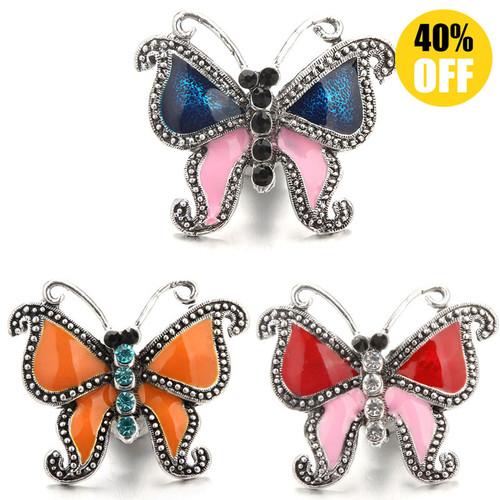 Beautiful Butterfly Snap Button Jewelry For Women LSSN723