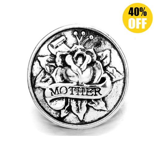 18MM Mother flower Snap Button Charms LSSN149
