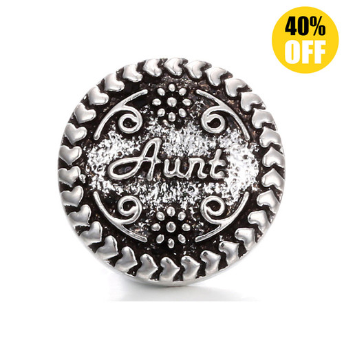 18MM Aunt Snap Button Charms LSSN205