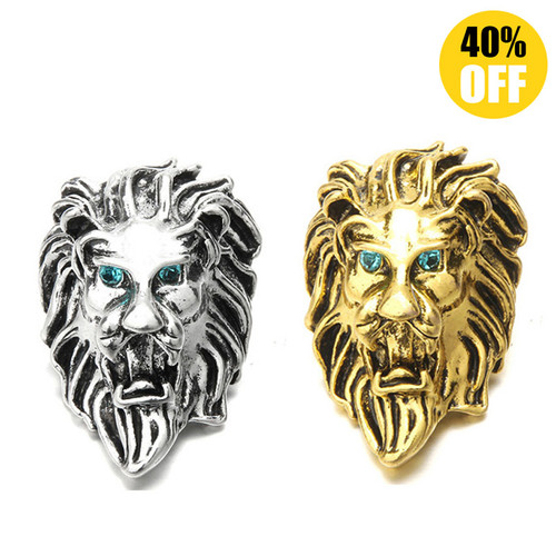 18MM Two Lion Snap Button Charms LSSN220