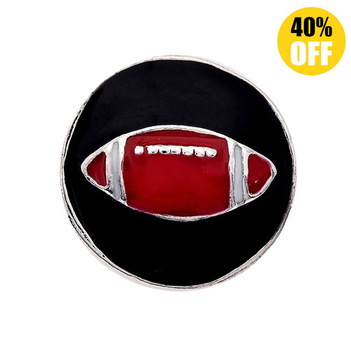 18MM  Rugby Snap Button Charms LSSN324