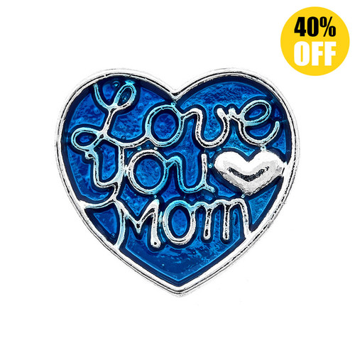 18mm Love You Mom Snap Button Charms LSSN325
