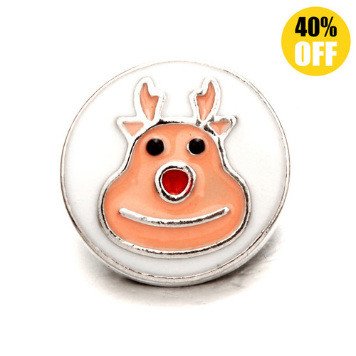 18MM Orange Deer Snap Button Charms LSSN409