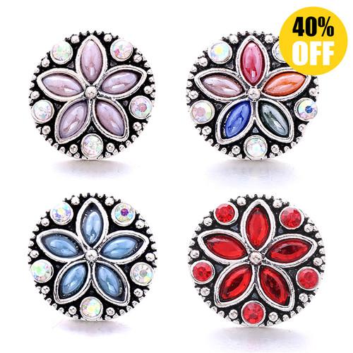 18MM Flower Snap Button Charms LSSN567