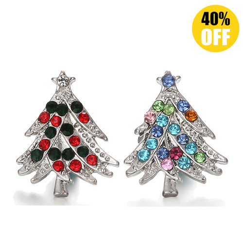 18MM Christmas Tree Snap Jewelry Charms LSSN444
