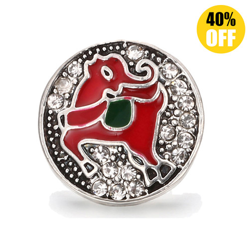 18MM Green Deer Snap Jewelry Charms LSSN442
