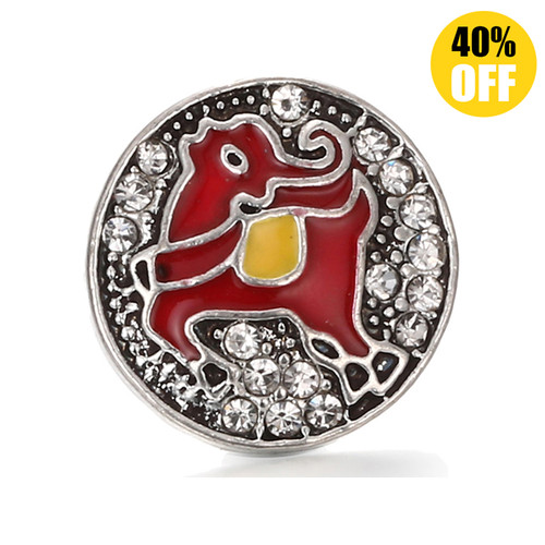 18MM Yellow Deer Snap Jewelry Charms LSSN443