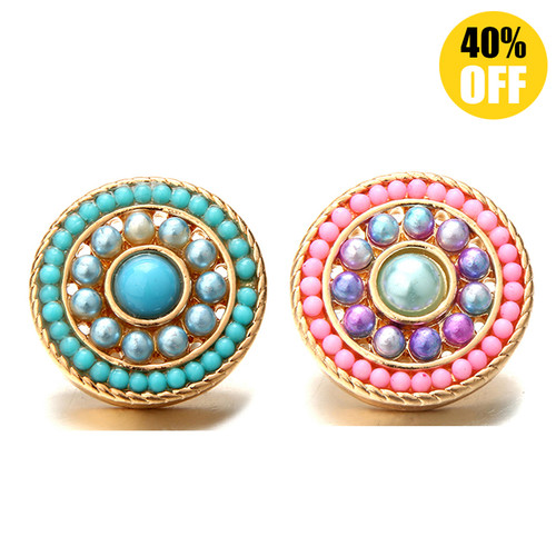 18MM Round Beads Snap Jewelry Charms LSSN544