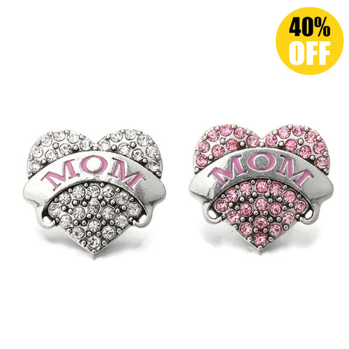 18MM Heart Mom Snap Jewelry Charms LSSN571