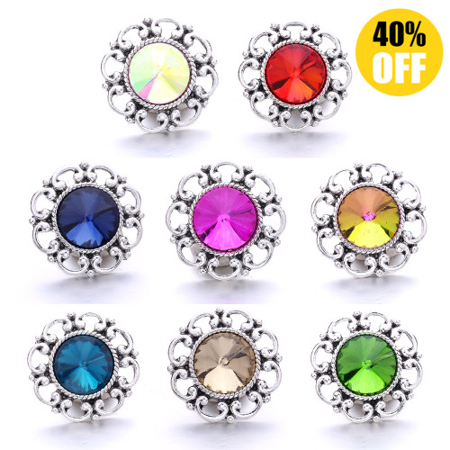 18MM Pretty Hollow Snap Button Charms Wholesale LSSN748