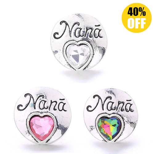 18MM Letter Nana Snap Jewelry Charms LSSN772