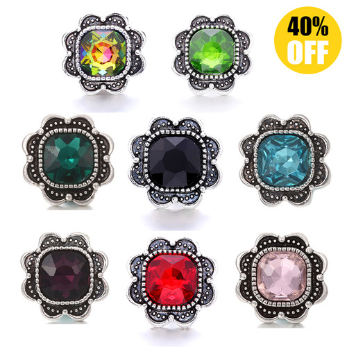 5pcs/lot 18mm  Colorful Snap Button Charms Multi-color  LSSN238