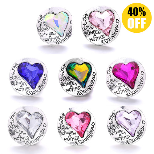 18MM The Love Between A Mother Daughter Snap Jewelry Charms   LSSN316