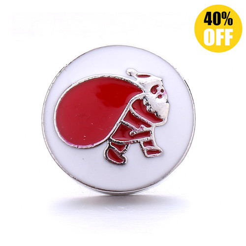 18MM Father Christmas Snap Jewelry Charms  LSSN849