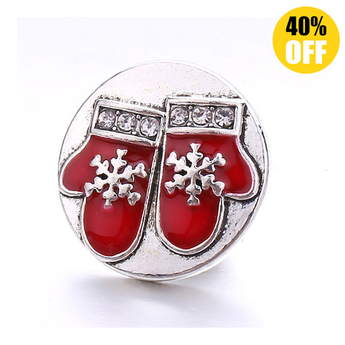 18MM A Pair Of Gloves Snap Jewelry Charms LSSN848