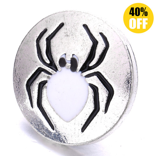 18MM Diamond Spider Snap Jewelry Charms LSSN871