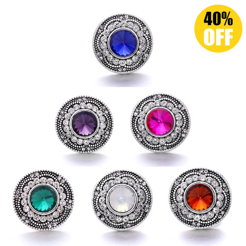 18MM Fashion Crystal Snap Button Charms LSSN990