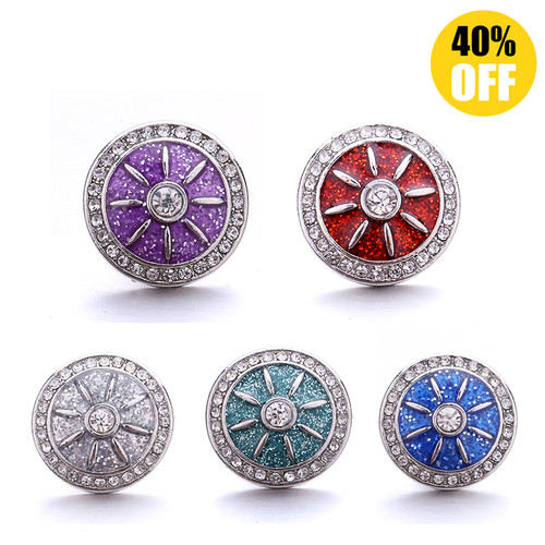 18MM Wholesale Crystal Snap Button Charms LSSN996