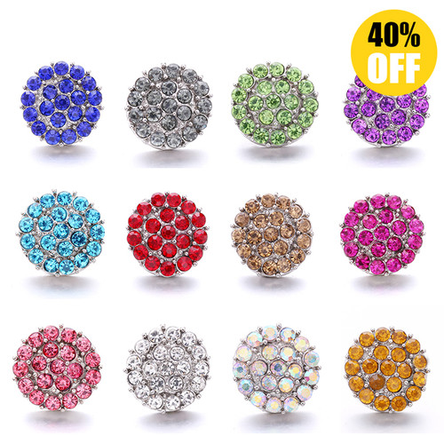 18MM Wholesale Crystal Snap Button Charms LSSN997