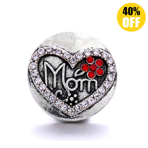 18MM Crystal Mom Snap Jewelry Charms LSSN1058