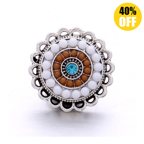 18MM Fashion White Star Snap Jewelry Charms LSSN1070