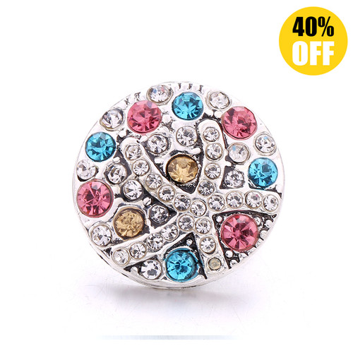 18MM Color Crystal Snap Jewelry Charms LSSN1080