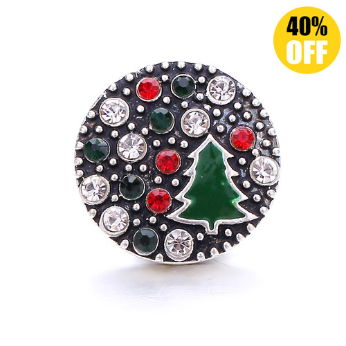 18MM Christmas Tree Snap Jewelry Charms LSSN1083
