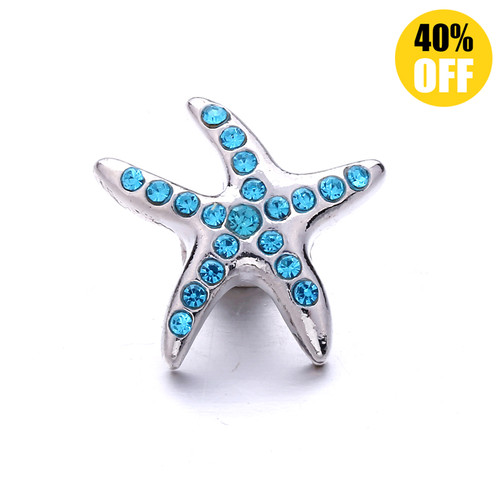 18MM Blue Stars Snap Jewelry Charms LSSN1102