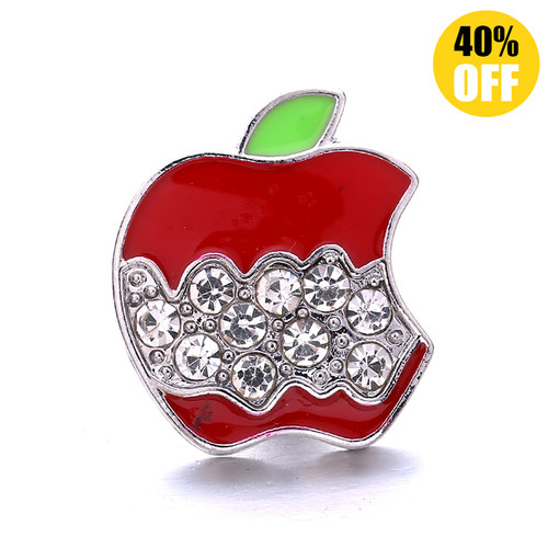 18MM Red Apple Snap Jewelry Charms LSSN1116