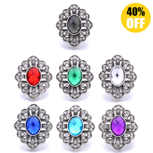 18MM Pretty Oval Snap Button Charms LSSN1132
