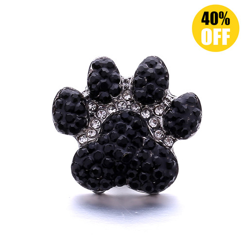 18MM Bear Paw Snap Button Charms LSSN1137