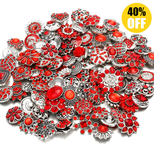 Wholesale 18mm Snap Button Charms Fit Snap Button Bracelet Jewelry LSSN438