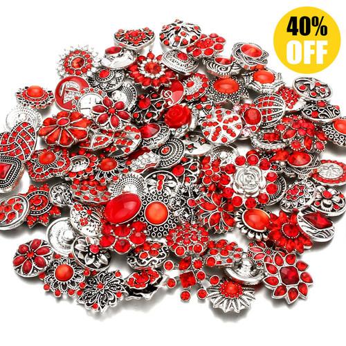 Wholesale 18mm Snap Button Charms Fit Snap Button Bracelet Jewelry LSSN438