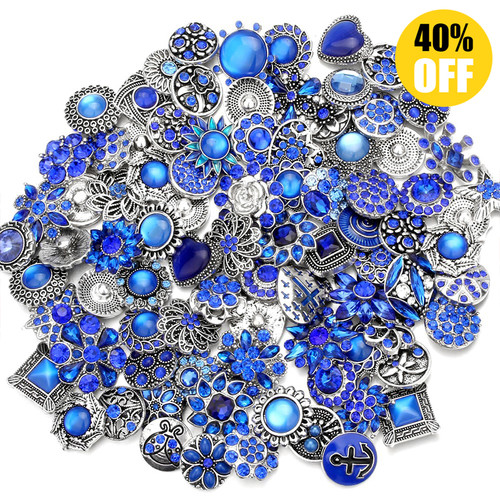 Wholesale 18mm Snap Button Charms Fit Snap Button Bracelet Jewelry LSSN439