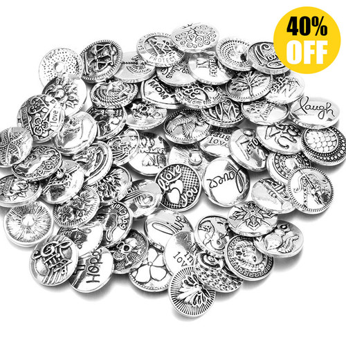 Wholesale 18mm Snap Button Charms LSSN437