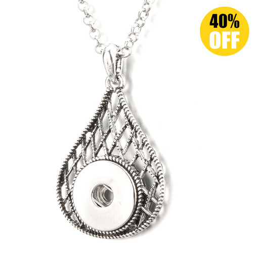 Water Drop Snap Jewelry Pendants LSNP168
