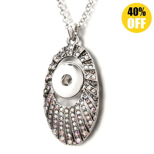Oval Crystal Snap Button Pendant Crystal Snap Jewelry Pendants LSNP175
