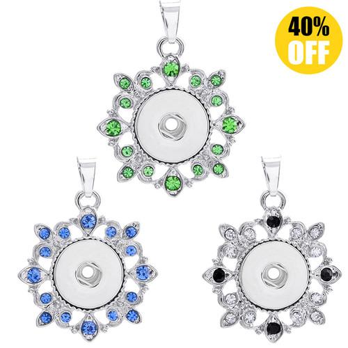 Beautiful Flowers Snap Jewelry Pendants For Women LSNP29