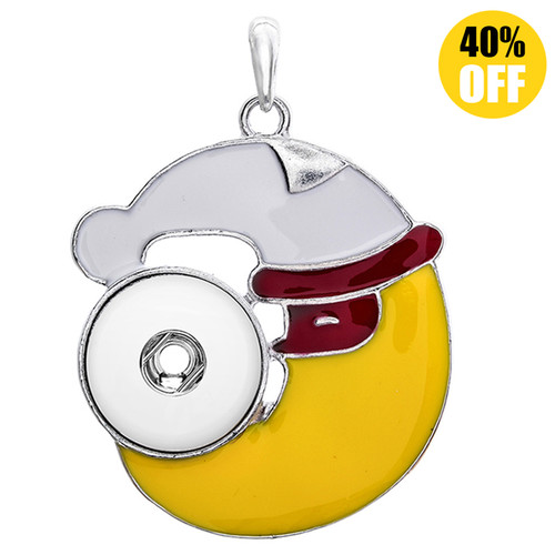 Fine Moon Snap Button Pendant Fit 18mm Snap Button Charms LSNP55