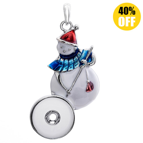Snowman Snap Button Pendant For Women Fit 18mm Snap Button Charms LSNP61