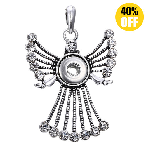 Dancing People Snap Jewelry Pendants Fit 18mm Snap Button LSNP78