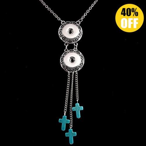 Cross Handmade Snap Button Necklace LSNP147