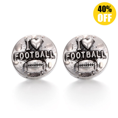 I Love Football Snap Charms Jewelry LSSN12MM04
